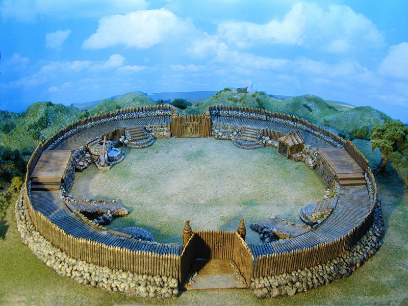large celtic fortification used to protect celtic warriors duing battles, also for tabletop wargames