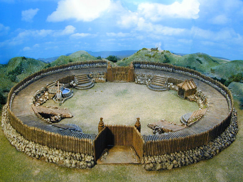 small celtic fortification used to protect celtic warriors duing battles, also for tabletop wargames