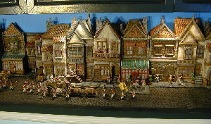 miniature building bookcase displays