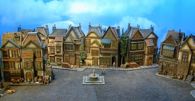 european miniature buildings