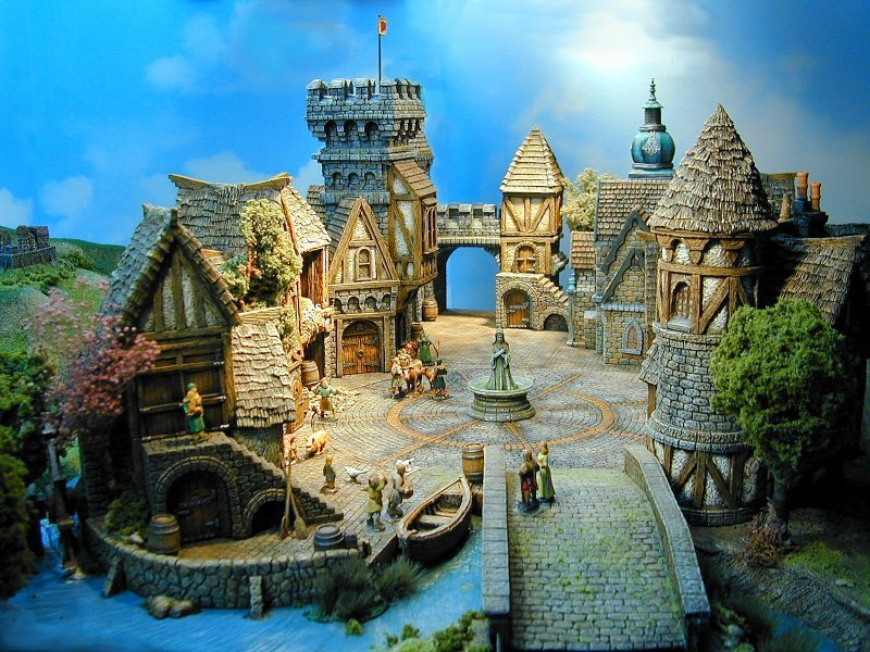 medieval miniature buildings